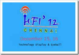 Hamfest India 2012 on December 15, 16 at Chennai, Tamil Nadu