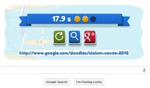 How to hack google doodle game slalom canoe using simple method ? A simple method to hack google doodle game slalom canoe